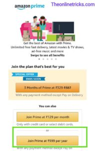 Amazon Prime Membership Youth offer