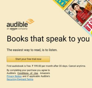 Amazon Audible For Free